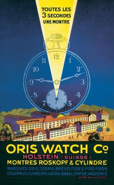 Oris durfte früher nur Roskopf-Uhren mit sogenannten Stiftankerwerken sowie Werke mit Zylinderhemmung bauen. Anzeige von 1926