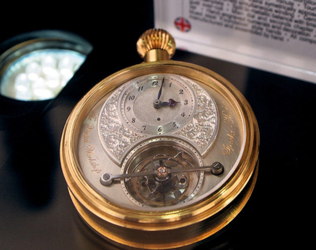 Diese Taschenuhr mit Tourbillon gilt als Gründungsuhr der Marke Speake-Marin