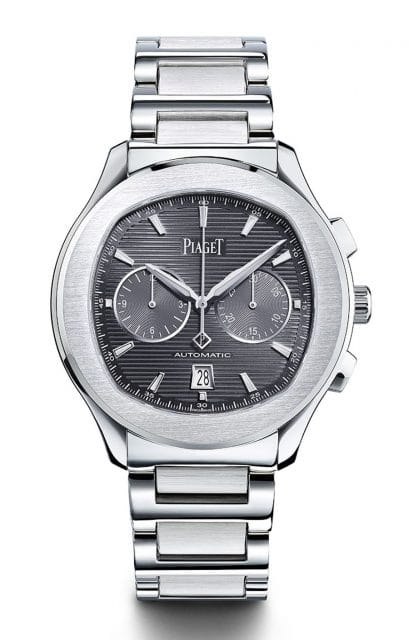 Piaget: Polo S Chronograph mit schiefergrauem Zifferblatt