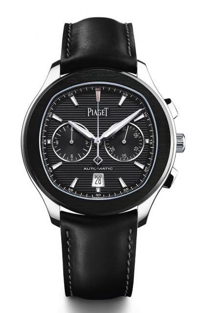 Piaget: Polo S Chronograph mit schwarzem Zifferblatt