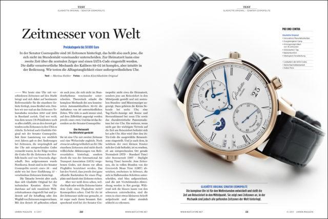 Glashütte Original bietet dem Weltreisenden eine Armbanduhr für alle Zeitzonen, ob im Sommer oder im Winter.