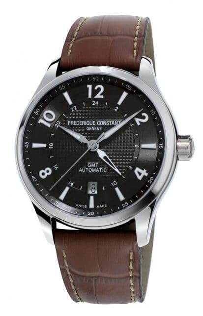 Frédérique Constant: Runabout GMT Automatic mit schwarzem Zifferblatt