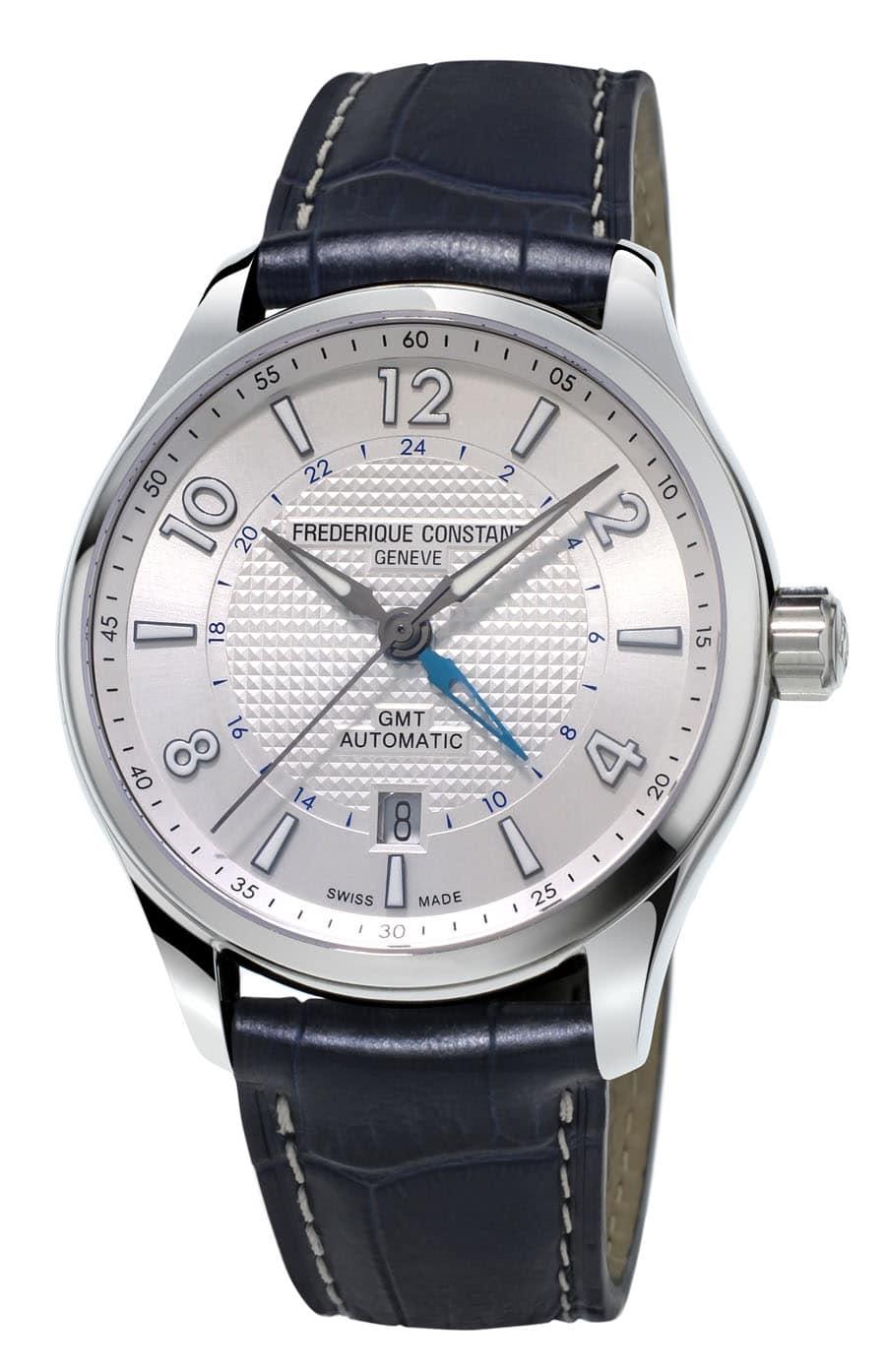 Frédérique Constant: Runabout GMT Automatic mit silberfarbenem Zifferblatt