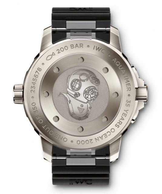 "Bodengravur der IWC Aquatimer Automatic 2000 Edition ""35 Years Ocean 2000"""
