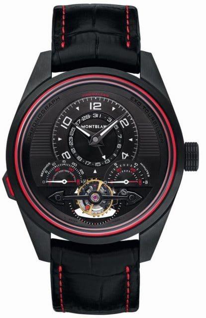 Montblanc: Timewalker Exotourbillon Minute Chronograph Limited Edition 100 in Schwarz