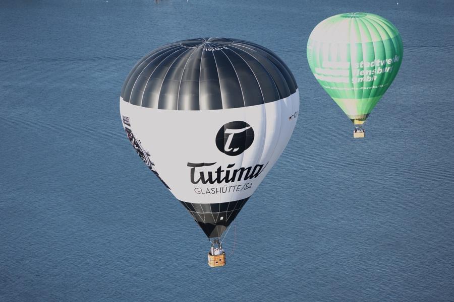 Tutima bei der Kieler Woche: Tutima-Heißluftballon