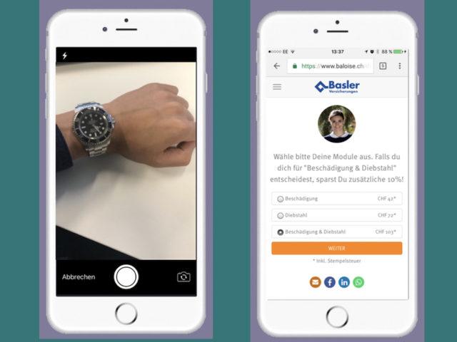 Die Basler Versicherung bietet eine Uhrenversicherung per App