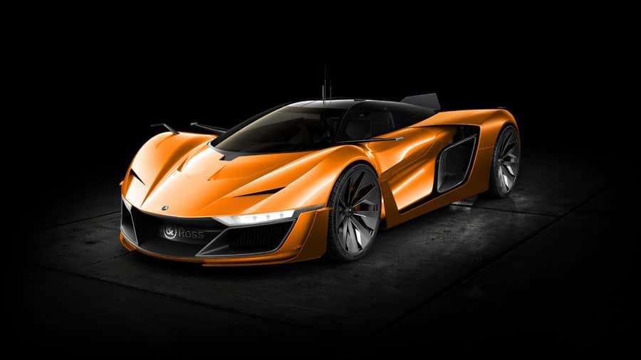 Das neue Aero GT Konzeptauto in Orange