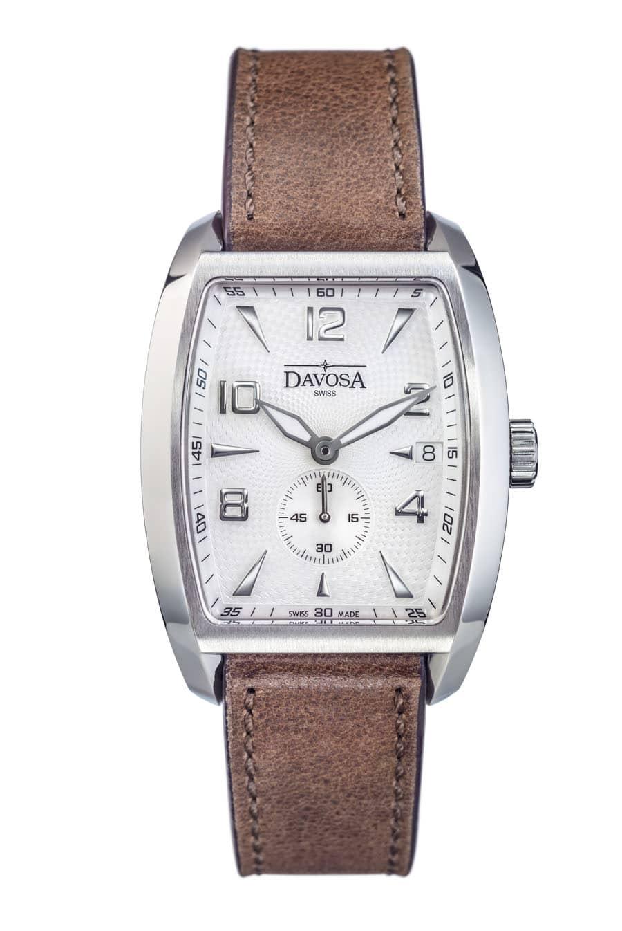 Davosa: Evo 1908 Automatic, klassische Version mit weißem Zifferblatt