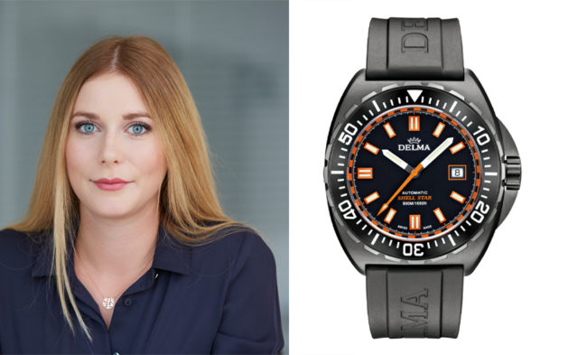 Nadja Ehrlich, Transaction Editor Watchtime.net,empfiehlt die Delma Shell Star Black Tag Limited Edition