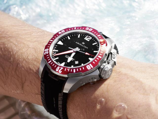 Auch die Hamilton Khaki Navy Frogman gehört zu den vom UHREN MAGAZIN getesteten Uhren.