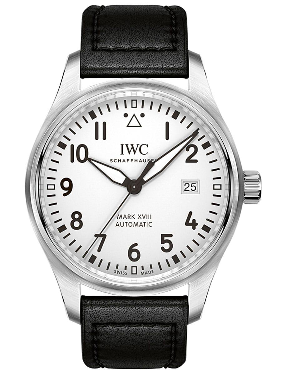 Einstiegspreislage bei IWC: Fliegeruhr Mark XVIII in Stahl, 4.490 Euro