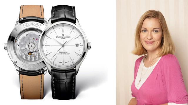 Katharina Studer, Redakteurin Watchtime.net, gefällt die Clifton Baumatic von Baume & Mercier