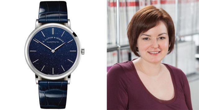 UHREN-MAGAZIN-Redakteurin Melissa Gößling empfiehlt die neue Saxonia Thin von A. Lange & Söhne