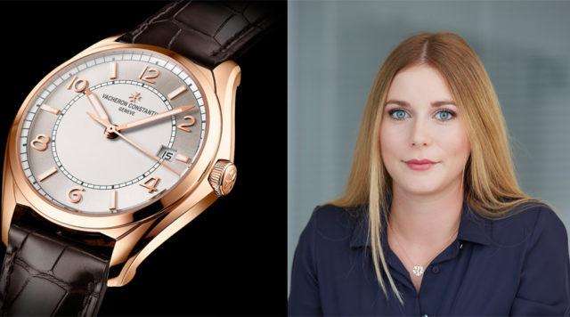 Nadja Ehrlich, Transaction Editor Volontärin Watchtime.net, gefällt die Fiftysix von Vacheron Constantin