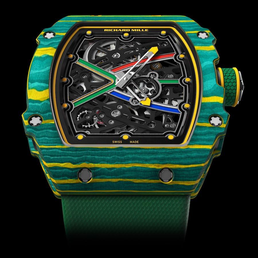Die RM 67-02 auf Basis der RM 67-01 ist die leichteste Uhr in der Richard-Mille-Kollektion.