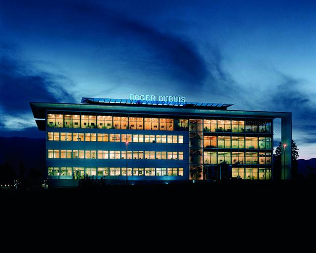 Modern: Das Manufakturgebäude von Roger Dubuis befindet sich im Genfer Industriegebiet