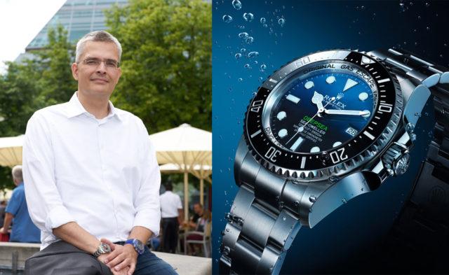 Rüdiger Bucher, Chefredakteur Chronos, ist von der Rolex Deepsea begeistert