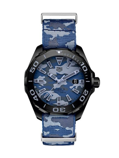 529343cb76 TAG Heuer  Aquaracer Camouflage 300 Meter Calibre 5