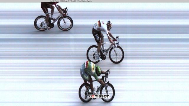 Fotofinish bei der Tour de France