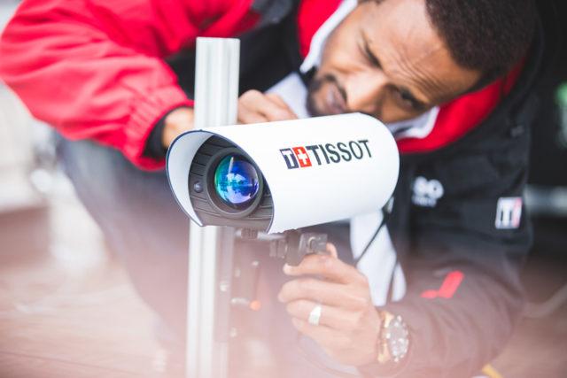 Fotofinishkamera von Tissot bei der Tour de France