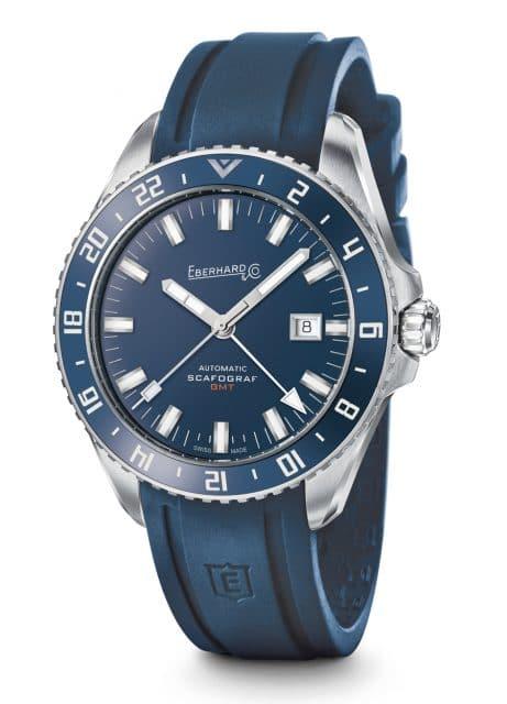 Eberhard & Co.: Scafograf GMT in Blau