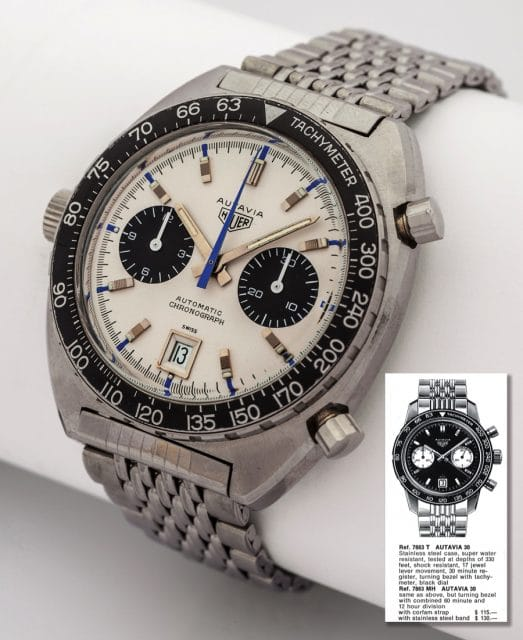 Heuer: Autavia Chronograph Referenz 1163 (Foto: Antiquorum)