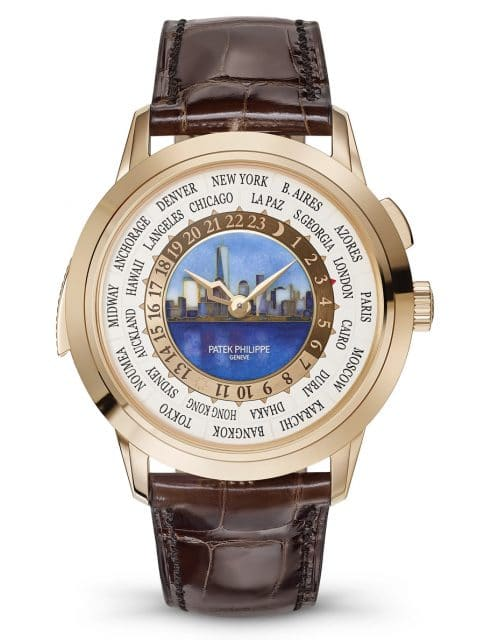 Patek Philippe: Weltzeituhr mit Minutenrepetition Referenz 5531R New York 2017 Special Edition – mit New York bei Tag