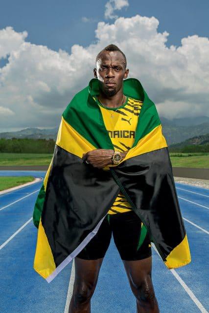 Mit Sprintweltmeister Usain Bolt gestaltete Hublot die goldene Big Bang
