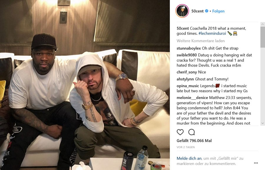 50 Cent und Eminem mit Rolex und Audemars Piguet