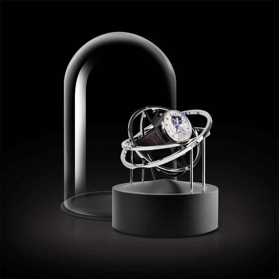 Der Uhrenbeweger Planet double axis Silver von Bernard Favre