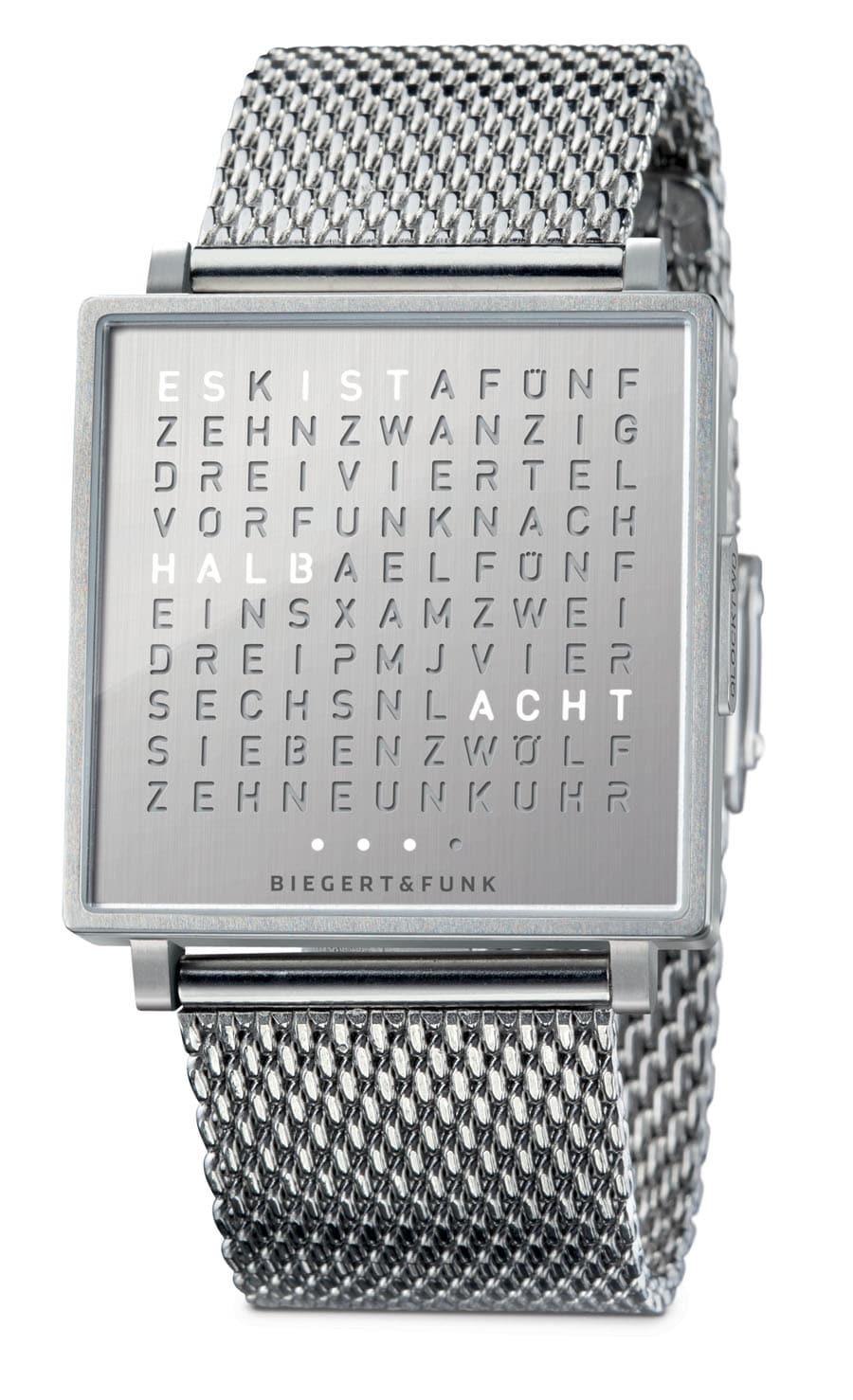 biegert funk qlocktwo w steel watchtime net