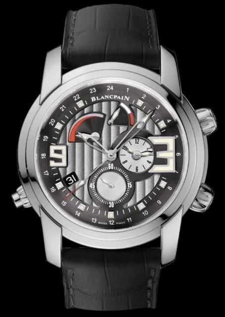 Die sportliche L-Evolution-Kollektion von Blancpain bietet eine Wecker mit GMT-Funktion