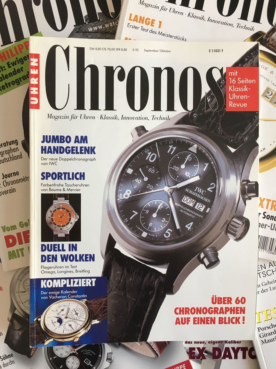 Die erste Chronos-Ausgabe von 1992