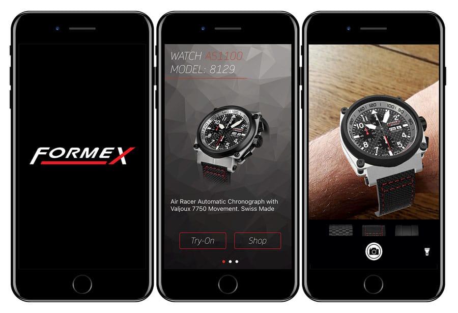 Formex-Augmented-Reality-App auf dem iPhone