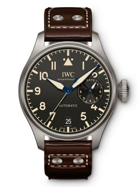 Bei der IWC Big Pilot's Watch Heritage befindet sich die Gangreserveanzeige bei drei Uhr.