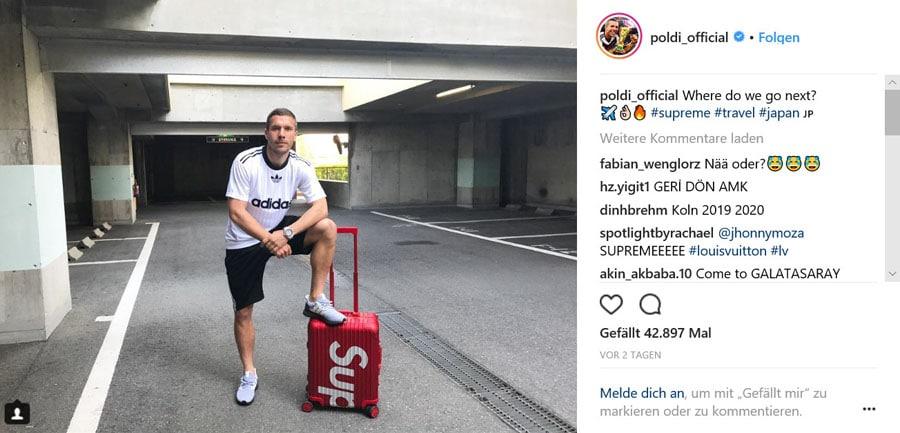 Lukas Podolski und Hublot
