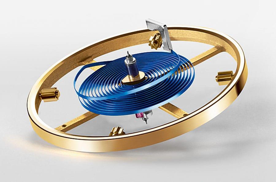 Monometallische Unruh mit Parachrom-Spirale von Rolex