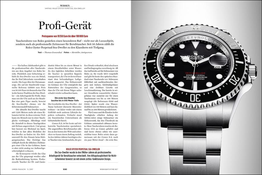 Die aktuelle Rolex Sea-Dweller und ihre Geschichte