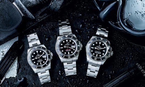 Die drei Taucheruhren von Rolex: Submariner, Sea-Dweller und Deepsea