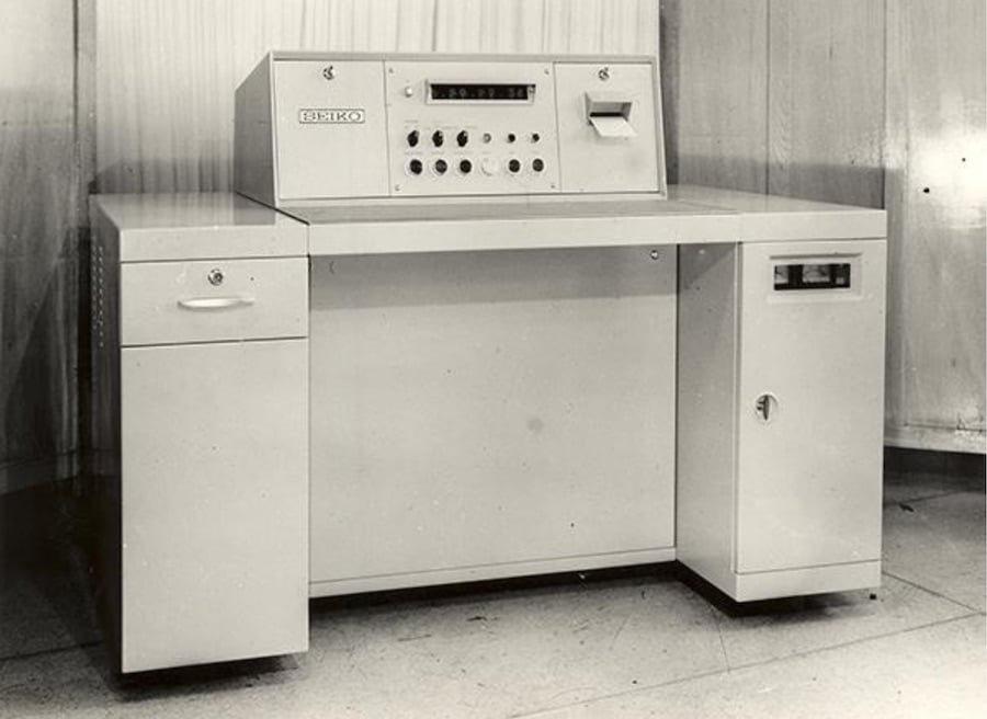 Der von Seiko entwickelte Zeitmesser mit gedruckter Papierausgabe legte den Grundstein für die Entstehung der Seiko-Tochter Epson