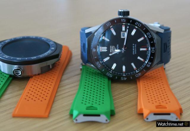 Die Bänder und das Mechanikmodul der TAG-Heuer-Smartwatch lassen sich ohne Werkzeug wechseln