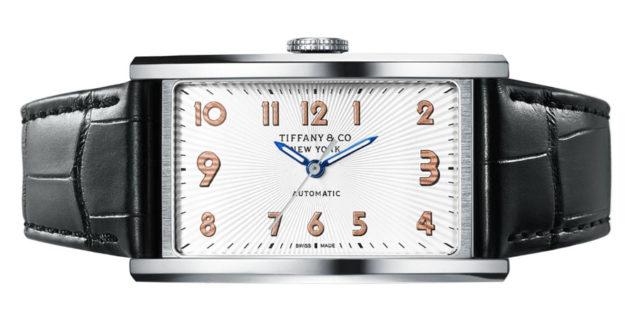 Tiffany & Co.: Automatikuhr East West im Edelstahlgehäuse (27,5 mal 46,5 Millimeter) für 5.200 Euro