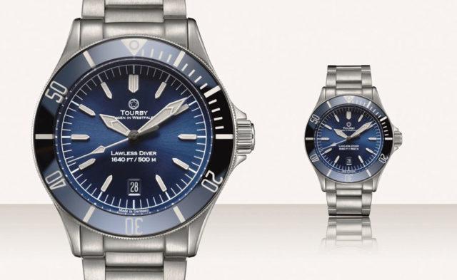 Tourby Watches: Lawless 42 mit blauem Zifferblatt