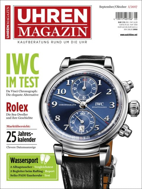 Die UHREN-MAGAZIN-Titelseite der Ausgabe 5/2017