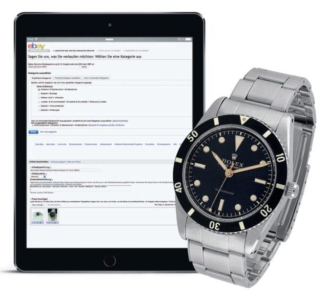 eBay: Verkaufs-Anfänger finden sich hier schnell zurecht. eBay eignet sich für Uhren bis zur mittleren Preislage.
