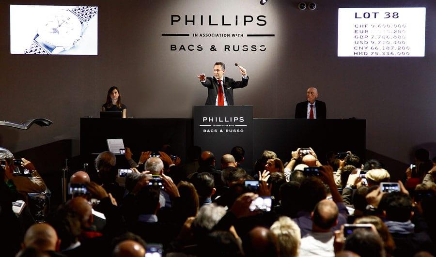 Uhrenversteigerung bei Phillips in Genf