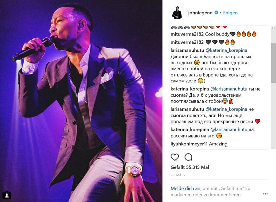 John Legend und Audemars Piguet