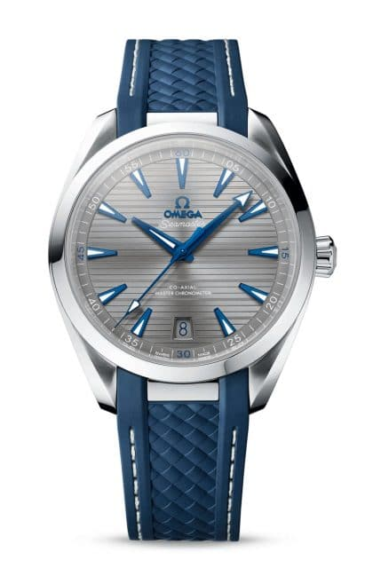Omega: Seamaster Aqua Terra Master Chronometer am Kautschukband mit grauem Zifferblatt