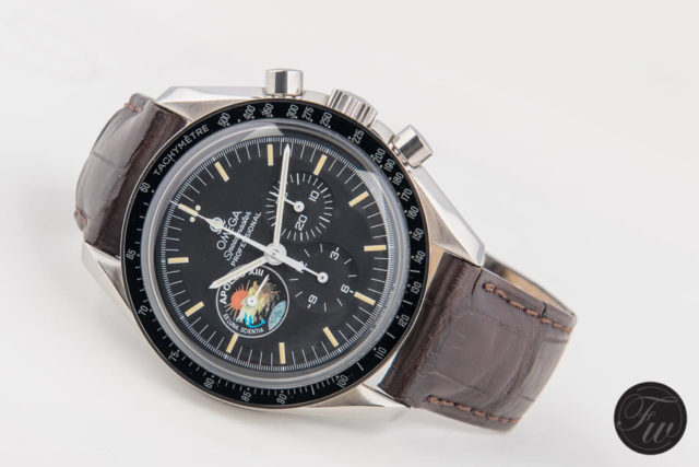 Omega: Speedmaster Pro 'Apollo XIII' Limited Edition am braunen Alligatorlederband